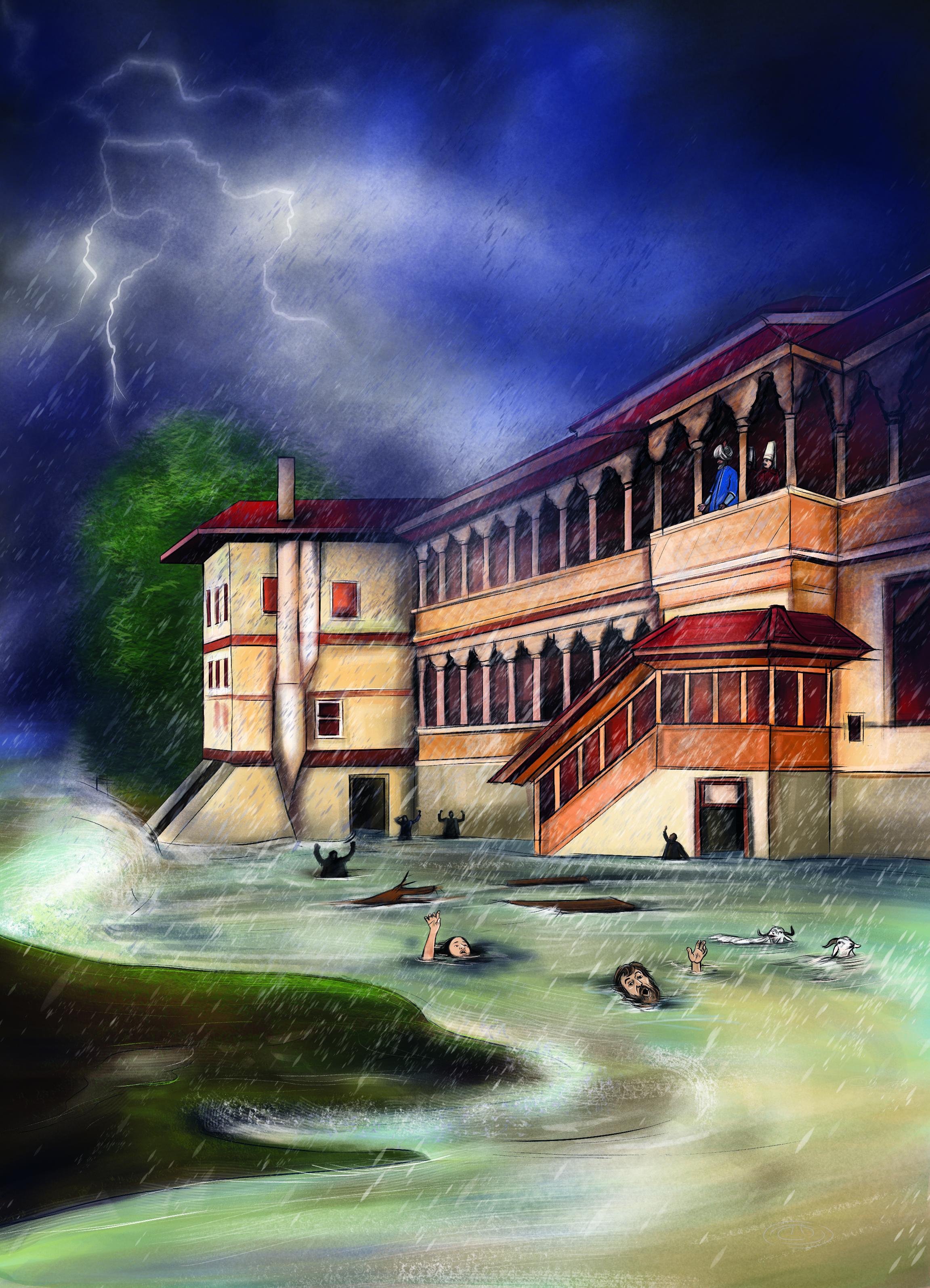 Photo of Kanuni Sultan Süleyman Az Kalsın Sel Sularına Kapılıyordu